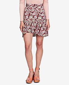Free People Nadia Floral-Print Ruffle-Hem Skirt