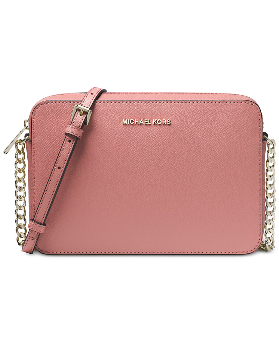 2ceeb02d682cfa Michael Kors Jet Set East West Crossgrain Leather Crossbody & Reviews -  Handbags & Accessories - Macy's