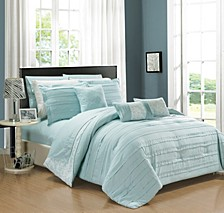 Lea 10-Pc King Comforter Set