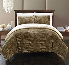 Alligator 3-Pc Queen Comforter Set