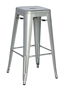 Bella Luna Galvanized Steel Bar Stool (Set of 4)