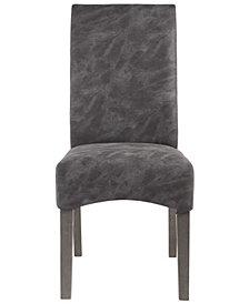 Bella Luna Roll Back Parsons Chair Solid Rubberwood Frame (Set of 2)