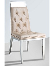 Bella Luna Tufted Chair W/ Crystal Accent (Set of 2)