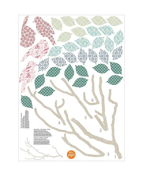 Brewster Home Fashions Song Birds Wall Art Kit