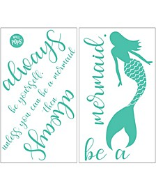 Always Be A Mermaid Wall Quote