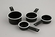 Thirstystone Black Speckle Measuring Cups, Set of 4