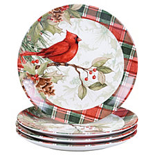 Certified International Winter Field Notes 4-Pc. Dinner Plates