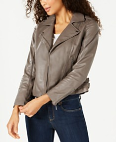 cb8c1cd23 MICHAEL Michael Kors Leather Side-Strap Moto Jacket