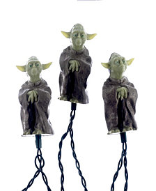 Kurt Adler UL 10-Light Star Wars Plastic Yoda Light Set