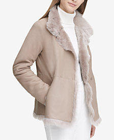 Calvin Klein Shearling Reversible Jacket
