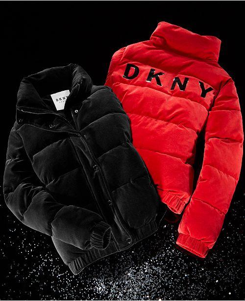 Dkny Sport Velour Puffer Coat Jackets Amp Blazers Women