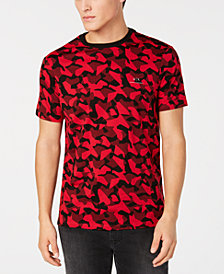 A|X Armani Exchange Men's Red & Black Camo T-Shirt, Created for Macy's