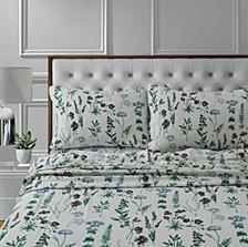 Fleur 170-GSM Cotton Flannel Printed Extra Deep Pocket King Sheet Set