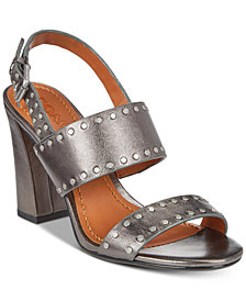 COACH Rylie Stacked-Heel Dress Sandals