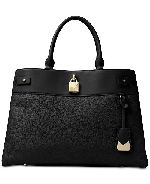 06b16d5865b8 Michael Kors Gramercy Polished Leather Satchel. Macy's / Handbags &  Accessories