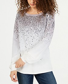 INC Dip-Dyed Sequin Sweatshirt, Created for Macy's
