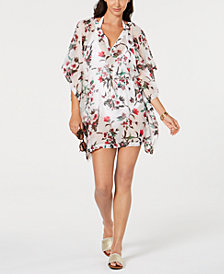Tommy Hilfiger Printed Chiffon Caftan Cover-Up