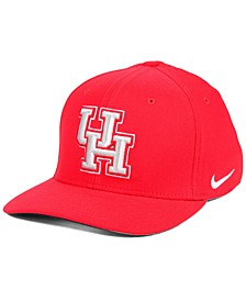Houston Cougars Classic Swoosh Stretch Fitted Cap