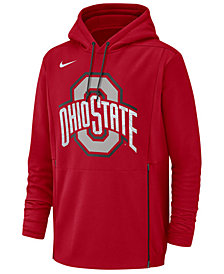 Nike Men's Ohio State Buckeyes Therma Pullover Hooded Sweatshirt