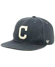 '47 Brand Cleveland Indians Garment Washed Navy Snapback Cap