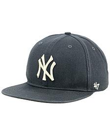 '47 Brand New York Yankees Garment Washed Navy Snapback Cap