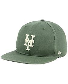 '47 Brand New York Mets Moss Snapback Cap