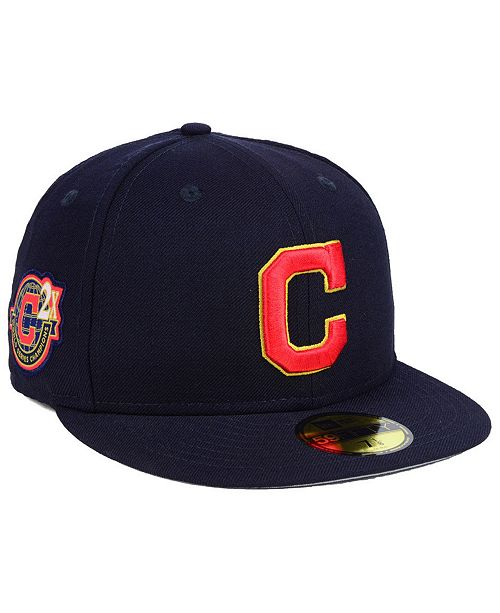 the best attitude 6fe0b e6483 ... New Era Cleveland Indians Trophy Patch 59FIFTY FITTED Cap ...