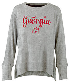 Pressbox Women's Georgia Bulldogs Cuddle Knit Sweatshirt