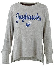 Pressbox Women's Kansas Jayhawks Cuddle Knit Sweatshirt