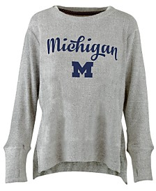 Pressbox Women's Michigan Wolverines Cuddle Knit Sweatshirt