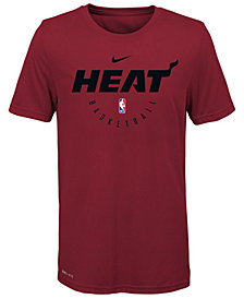 Nike Miami Heat Elite Practice T-Shirt, Big Boys (8-20)