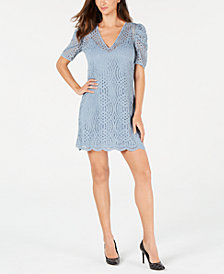 MICHAEL Michael Kors Lace Scalloped-Hem Dress