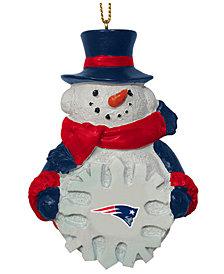 Memory Company New England Patriots Snowflake Snowman Ornament