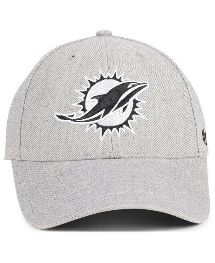 '47 Brand Miami Dolphins Heathered Black White MVP Adjustable Cap & Reviews - Sports Fan Shop By Lids - Men - Macy's