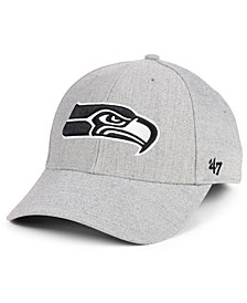 Seattle Seahawks Heathered Black White MVP Adjustable Cap
