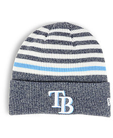 New Era Tampa Bay Rays Striped Cuff Knit Hat