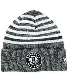 New Era Brooklyn Nets Striped Cuff Knit Hat