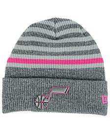 New Era Utah Jazz Striped Cuff Knit Hat