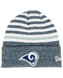 New Era Los Angeles Rams Striped2 Cuff Knit Hat