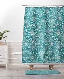 Deny Designs Heather Dutton Bursting Bloom Peacock Bath Mat