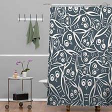 Deny Designs Heather Dutton Night Owl Shower Curtain