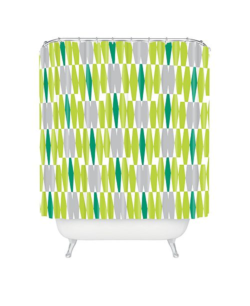Deny Designs Heather Dutton Abacus Emerald Shower Curtain