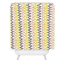 Heather Dutton Sprig Pink Lemonade Shower Curtain