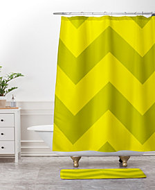 Deny Designs Holli Zollinger Chevron Yellow Bath Mat