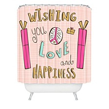 Heather Dutton Peace Love And Happiness Shower Curtain