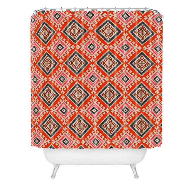 Deny Designs Holli Zollinger Bohemian Farmhouse Geo Shower Curtain