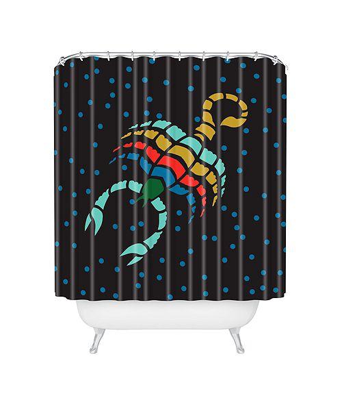 Deny Designs Holli Zollinger Zodiac Scorpio Shower Curtain