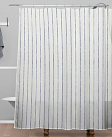 Holli Zollinger Aegean Wide Stripe Shower Curtain