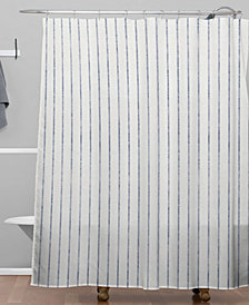 Deny Designs Holli Zollinger Aegean Wide Stripe Shower Curtain