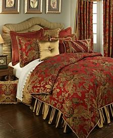 Verona Red 3-Piece Luxury Comforter Set - Queen